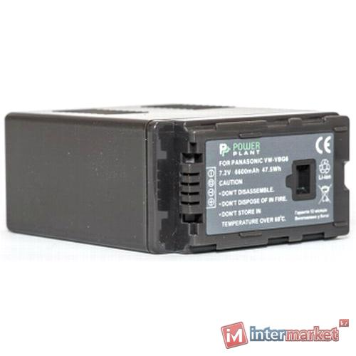 Аккумулятор PowerPlant Panasonic VW-VBG6 6600mAh