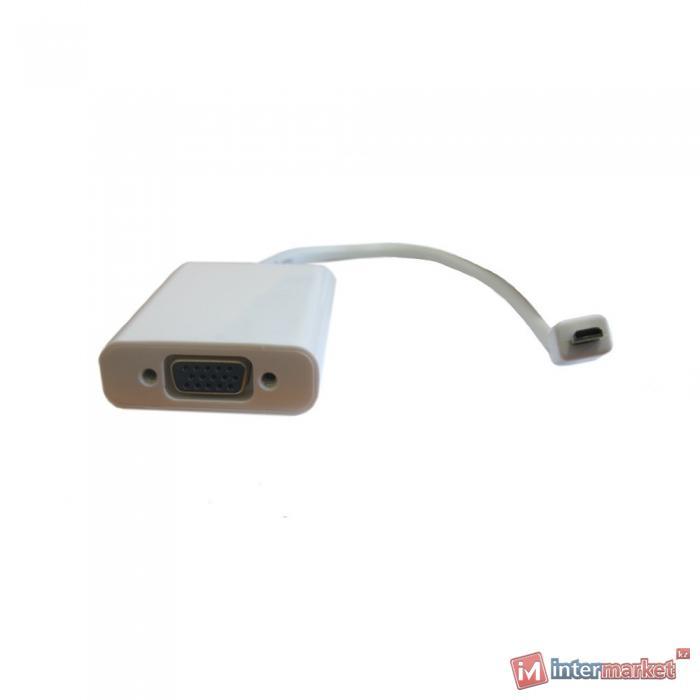 Конвертер HDMI m -> D-Sub (VGA) f + audio, Espada, Белый