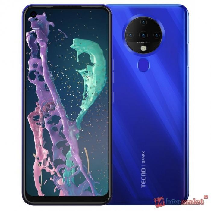 Смартфон Tecno Spark 6, 64Gb, Ocean Blue (KE7)